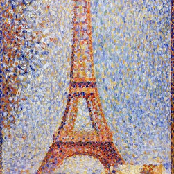 """Georges Seurat The Eiffel Tower - 16"""" x 24"""" Premium Archival Print - 16"""" x 24"""" Georges Seurat The Eiffel Tower premium archival print reproduced to meet museum quality standards. Our museum quality archival prints are produced using high-precision print technology for a more accurate reproduction printed on high quality, heavyweight matte presentation paper with fade-resistant, archival inks. Our progressive business model allows us to offer works of art to you at the best wholesale pricing, significantly less than art gallery prices, affordable to all. This line of artwork is produced with extra white border space (if you choose to have it framed, for your framer to work with to frame properly or utilize a larger mat and/or frame).  We present a comprehensive collection of exceptional art reproductions byGeorges Seurat."""
