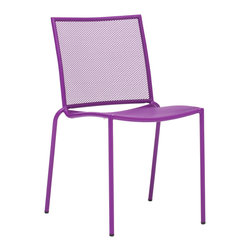 Zuo Modern Contemporary, Inc. - Repulse Bay Dining Chair Purple (set of 4) - Funky and fun, the Repulse Bay Chair will add flare to any space. Frame is made from epoxy coated steel that's durable enough for any climate. Comes in white, purple, aqua or lime.