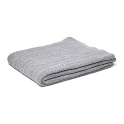 Johanna Howard Home & Accessories - Howard Cable Throw, Heather Grey - Howard Cable Throw feature's JHH&A's signature cable stitch design it is a truly luxorious cable throw. Made by a small family owned business in Peru, knitted in 100% baby alpaca it is incredible soft and cozy. It will look great on a sofa or bed.