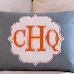 Custom Cut Monogrammed Initial Pillow By Studio Design Lab - I know this mama would love a monogrammed pillow! The shield design adds such a pretty background and the colors offered are extensive. I love that even though it looks super fancy, it is made of recycled felt and can be thrown in the washer.