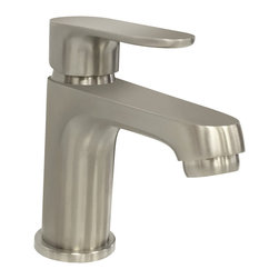 EVIVA - Melrose Faucet, Chrome Finish, Lifetime Limited Warranty Single Handle, Chrome - Eviva Melrose Faucet is a Unique Square looking faucet, with a high quality brass construction. Moreover the brushed nickel finish provides the Melrose Faucet with a very matte & classy look that manifests the beauty of any countertop. All installment utilities are included with the product package, Lifetime Limited Warranty that assures the right quality for the price the consumers are paying. Brass Construction ensuring heavy duty use. The package includes two regular size hoses for hot and cold water, the faucet is 100% pressure tested.