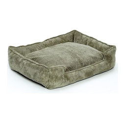 Jax & Bones - Jax & Bones Corduroy Lounge Bed Olive Small - With removable inserts and zippers, these corduroy lounge beds are easy to maintain and care for. They are amazingly comfortable and cozy, making them ideal for your pet to rest in. these beds are perfect for those pets which need some warmth and reassurance in their lives. The beautiful colors offered in these beds will not fade after washing and are extremely durable.   100% Machine Washable and Certified Eco-Friendly!