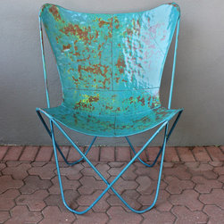blue butterfly chair - please e-mail us at info@redinfred.com for more information + purchasing availability
