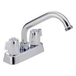 DELTA FAUCET - Lead Law Compliant 2 Handle Blade Laundry Faucet ADA With Hose -