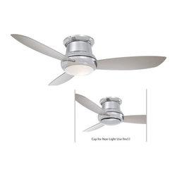 Minka Aire - Minka Aire Concept II 44 Ceiling Fan in Polished Nickel - Minka Aire Concept II 44 Model F518-PN in Polished Nickel with Silver Finished Blades.