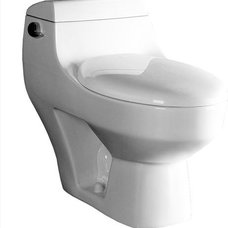 Modern Toilets Ariel Platinum 'Athena' Contemporary One Piece White Toilet