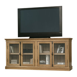 Sauder - Sauder Barrister Lane Storage Credenza in Scribed Oak - Sauder - TV Stands - 414722 -