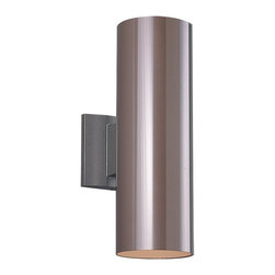 Sea Gull Lighting - Sea Gull Lighting 8340-10 Bronze Contemporary Outdoor Cylinder Wall Sconce - Listed for wet location if used with SG-9008-12 weathered resistant diffuser.