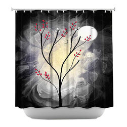 DiaNoche Designs - Shower Curtain Artistic - I will still be Dreaming - DiaNoche Designs works with artists from around the world to bring unique, artistic products to decorate all aspects of your home.  Our designer Shower Curtains will be the talk of every guest to visit your bathroom!  Our Shower Curtains have Sewn reinforced holes for curtain rings, Shower Curtain Rings Not Included.  Dye Sublimation printing adheres the ink to the material for long life and durability. Machine Wash upon arrival for maximum softness on cold and dry low.  Printed in USA.
