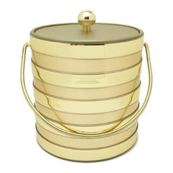 Mr. Ice Bucket Barrel 3-Quart Ice Bucket, Gold - This ice bucket simply is glam and luxury. What's not to love?