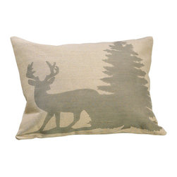 Silk Plants Direct - Silk Plants Direct Cotton Jute Reindeer and Tree Print Pillow (Pack of 2) - Pack of 2. Silk Plants Direct specializes in manufacturing, design and supply of the most life-like, premium quality artificial plants, trees, flowers, arrangements, topiaries and containers for home, office and commercial use. Our Cotton Jute Reindeer and Tree Print Pillow includes the following: