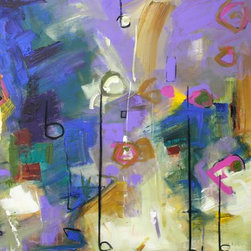 Arioso Artwork - Contemporary abstract painting with expressionistic musical undertones on gallery wrap canvas.  Professional quality acrylics with the painting continuing around the 1.5 depth sides. Ready to hang.