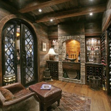Eclectic Wine Cellar by Modern Rustic Homes