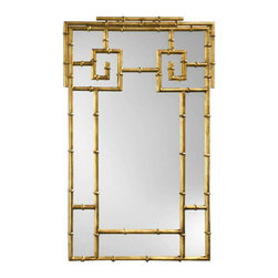 Gold Gilded Faux Bamboo Mirror - I would place this gilded faux bamboo beauty over a well-stocked bar cart or above a chest of drawers in a large entryway.