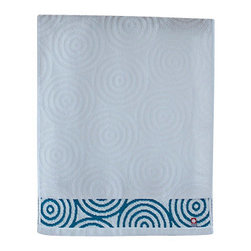 imabari towel group - Uzushio Wave Towels, Hand Towel - Turquoise shade of indigo with sea whirl patterns. Uzushio, meaning whirlpool in Japanese, is an appropriate name for their fondness of the beauty of the sea. Both size options uniquely differently, with special stitching on the bath towel, making this set a collection piece to add to your bathroom.