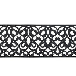 """Rubber Leaf Double Wide Doormat, 24 x 58"""" - A handsome scrolling vine design on our slip-resistant mat traps dirt and moisture. This mat is durable enough to leave outdoors year-round and is easy to clean by rinsing with a garden hose. Rectangle: 30"""" wide x 18"""" deep x 0.5"""" thick Double Wide: 58"""" wide x 24"""" deep x .05"""" thick Half Round: 30"""" wide x 18"""" deep x 0.5"""" thick  Stair Tread: 30"""" wide x 9"""" deep x .05"""" thick Made of natural rubber and recycled rubber. Catalog / Internet only. Imported."""
