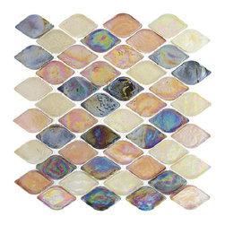 "Nova - Glass Tile Aquatica Glossy Spectrum, Box - 10 sheets per box. Sheets size 10""x10"""