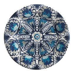 Tavira 10-1/2-inch Melamine Plate - With such gorgeous designs, these dishes definitely fit the blue theme of my dream beach house.