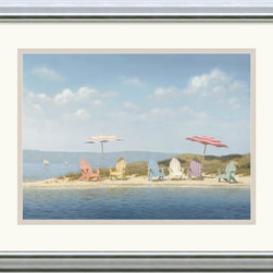 Amanti Art - Summer Colors Framed Print by Daniel Pollera - Inspired by the styles of Hopper, Homer and Wyeth, Daniel Pollera's work evokes tranquility and solitude. Living by the coastal landscapes that he paints, Pollera brings an almost photographic realism to his beach scenes.