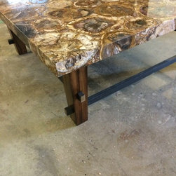 Mahogany & Petrified Stone Furniture Suite -