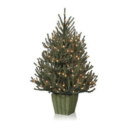 Balsam Hill Potted Baby Spruce Artificial Christmas Tree - THE CLASSIC APPEAL OF BALSAM HILL'S BABY SPRUCE POTTED CHRISTMAS TREE  