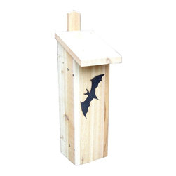 Stoval - Stovall Wood Bachelor Dwelling Bat House - SP9H - Shop for Houses from Hayneedle.com! About StovallBased in Michigan Stovall Products has been manufacturing a full line of cedar bird feeders birdhouses and bat houses for over 20 years. Each hand-crafted item is made of Western red cedar and is assembled with screws and stainless hardware. Much of the hardware is finished with a wood protector to accent the natural warmth of the wood grain while some products are rough sawn to blend naturally into their surroundings. Stovall builds houses for wrens bluebirds hawks owls ducks and more and offers three sizes of bat houses.