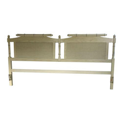 Faux Bamboo & Cane Headboard - King Size - Dimensions 77.0ʺW × 2.0ʺD × 38.0ʺH