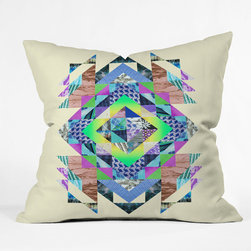 "DENY Designs - Fimbis Clarice Throw Pillow - Wanna transform a serious room into a fun, inviting space? Looking to complete a room full of solids with a unique print? Need to add a pop of color to your dull, lackluster space? Accomplish all of the above with one simple, yet powerful home accessory we like to call the DENY Throw Pillow! Features: -Pillow. -Fimbis Clarice collection. -Fabric: Woven polyester. -Closure: Sealed. -Care: Spot treatment with mild detergent. -Manufacturing 6 color dye process custom printed for every order. -Made in the USA.Dimensions: -Small: 26"" H x 26"" W x 7"" D: 4 lbs. -Medium: 20"" H x 20"" W x 6"" D: 4 lbs. -Large: 18"" H x 18"" W x 5"" D: 3 lbs. -Extra Large: 16"" H x 16"" W x 4"" D: 3 lbs."
