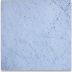 Stone Center Corp - Carrara White Marble Tile 18x18 Honed - Premium Grade Carrara Marble Italian White Bianco Carrera Honed 18 x 18 Wall & Floor Tiles are perfect for any interior/exterior projects such as kitchen backsplash, bathroom flooring, shower surround, countertop, dining room, hall, lobby, corridor, balcony, terrace, spa, pool, etc. Our large selection of coordinating products is available and includes hexagon, herringbone, basketweave mosaics, subway tiles, moldings, borders, and more.