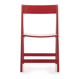 Spare Red Folding Chair - Super simple and affordable, these are a great alternative to the usual folding chairs.