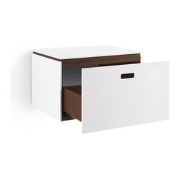 WS Bath Collections - ciacole 8060.16 Cabinet with Drawer - Looking for a storage cabinet for a bath or home office with tight quarters? This compact white model will meet your needs handily. Made in Italy, it's freestanding with one spacious drawer and comes in two sizes and a variety of interior colors including red, orange and pink.