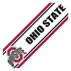 Trademarx Wall Decor - NCAA Ohio State Buckeyes Prepasted Wallpaper Border Roll - Features: