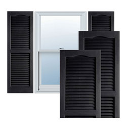 "Alpha Systems LLC - 14"" x 43"" Premium Vinyl Open Louver Shutters,w/Screws, Black - Our Builders Choice Vinyl Shutters are the perfect choice for inexpensively updating your home. With a solid wood look, wide color selection, and incomparable performance, exterior vinyl shutters are an ideal way to add beauty and charm to any home exterior. Everything is included with your vinyl shutter shipment. Color matching shutter screws and a beautiful new set of vinyl shutters."