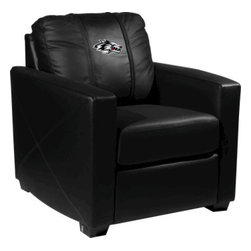 Dreamseat Inc. - University of New Mexico NCAA Alt Logo Xcalibur Leather Arm Chair - Check out this incredible Arm Chair. It's the ultimate in modern styled home leather furniture, and it's one of the coolest things we've ever seen. This is unbelievably comfortable - once you're in it, you won't want to get up. Features a zip-in-zip-out logo panel embroidered with 70,000 stitches. Converts from a solid color to custom-logo furniture in seconds - perfect for a shared or multi-purpose room. Root for several teams? Simply swap the panels out when the seasons change. This is a true statement piece that is perfect for your Man Cave, Game Room, basement or garage.