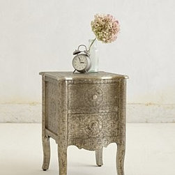 Anthropologie - Hand-Embossed Nightstand - *Two drawers