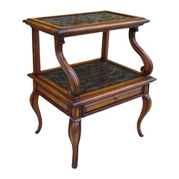 Ambella Home - Cambridge Step Accent Table - You'll love the dainty curved feet and drawer of this accent table inspired by 18th and 19th century English designs. If searching high and low for an original antique isn't your thing, this is a more than worthy substitute.