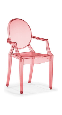 Zuo Modern - Baby Anime Chairs, Transparent Red, Set of 2 - Based on Zuo's popular Anime, the Baby Anime chair fits in every child's room in need of modern, classic style. Molded from polycarbonate or lexan, the Baby Anime has UV resistant compound mixed in, it serves the function and design.