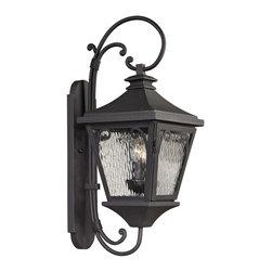 Elk Lighting - Forged Manor 2-Light Outdoor Sconce in Charcoal - Forged Manor collection 2 light outdoor sconce in charcoal