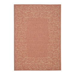 Safavieh - Safavieh Courtyard Cy5139A Rust / Sand Area Rug - Traditional patterns and classic beauty are found in the area rugs of the Courtyard collection. Made in Belgium of enhanced polypropylene, these rugs are extremely durable and perfect for indoor or outdoor use. The area rugs of the Safavieh Courtyard collection offer highly detailed and sophisticated designs created through an unusual sisal weave. Select the colors, design, and style that will compliment any room in your home in round, rectangular or runner rugs.