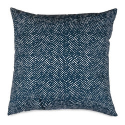 Majestic Home Goods - Navy Navajo Extra Large Pillow - Add a splash of color and a little texture to any environment with these great indoor/outdoor plush pillows by Majestic Home Goods. The Majestic Home Goods Navajo pillow will add additional comfort to your living room sofa or your outdoor patio. Whether you are using them as decor throw pillows or simply for support, Majestic Home Goods pillows are the perfect addition to your home. These throw pillows are woven from outdoor treated polyester with up to 1000 hours of U.V. protection, and filled with Super Loft recycled polyester fiber fill for a comfortable but durable look. Spot clean only.
