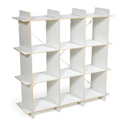 Quark Enterprises - 9 Cubby Organizer, White - The newest addition to our Cubby Storage line, our 9 Cubby Organizer will give you even more space to work with. Like our other storage furniture options, the 9 Cubby Organizer is meant to be used with our kids' storage bins. You can use it to store books and clothes or fill the bins with art supplies and other knick knacks. With so much space to put things your kids' rooms will always be neat and tidy.