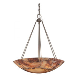 ELK Lighting - Six Light Matte Nickel Up Pendant - Six Light Matte Nickel Up Pendant