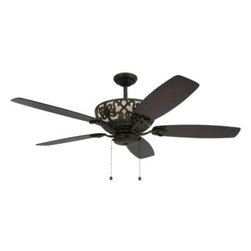 TroposAir - Indoor Ceiling Fans: TroposAir Excalibur 60 in. Rubbed Bronze Uplight Ceiling Fa - Shop for Lighting & Fans at The Home Depot. The large, bold appearance of the Excalibur 60 in. Rubbed Bronze ceiling fan is tempered by the intricate, yet substantial, scrollwork that encloses the illuminated housing and up light within, casting a soft accent light. The rich Rubbed Bronze finish makes this ornate Victorian model a noble statement in any decor. Its extra high performance motor provides excellent airflow.