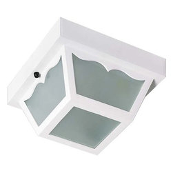 "Nuvo Lighting - Nuvo Lighting 77/835 Single Light 8"" Carport Flush Mount Ceiling Fixture with Fr - Nuvo Lighting 77/835 Single Light 8"" Carport Flush Mount Ceiling Fixture with Frosted Acrylic PanelsNuvo Lighting 77/835 Features:"