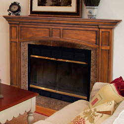 Vance Fireplace Mantel - The Vance Fireplace Mantel features a clean and classic design that complements modern and traditional decors.