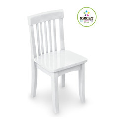 KidKraft - Avalon Chair - White by Kidkraft - Our heirloom-quality Avalon Chair is crafted form solid wood to endure rigorous use through childhood. Available in a variety of colors, mix and match the chairs for a customized look that enhances the decor of your child's room.