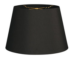 """""""Royal Designs, Inc"""" - Tapered Shallow Drum Hardback Lampshade - """"This Tapered Shallow Drum Hardback Lampshade - Black 13 x 18 x 12 is a part of Royal Designs, Inc. Timeless Hardback Lampshade Collection and is perfect for anyone who is looking for a simple yet stunning lampshade. Royal Designs has been in the lampshade business since 1993 with their multiple shade lines that exemplify handcrafted quality and value."""