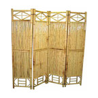 """Master Garden Products - Bamboo Screen, 4 Panel Self Standing Screens, 72""""W x 72""""H - Bamboo screen and room dividers can be used indoors or outdoors in residential or any commercial facilities, to separate an area for privacy or for creating extra room. They can be folded and stored away easily when not in use. We have different designs and sizes to suit your screening needs. Our bamboo screen panels are processed naturally for indoor and outdoor use."""