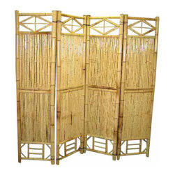 "Master Garden Products - Bamboo Screen, 4 Panel Self Standing Screens, 72""W x 72""H - Bamboo screen and room dividers can be used indoors or outdoors in residential or any commercial facilities, to separate an area for privacy or for creating extra room. They can be folded and stored away easily when not in use. We have different designs and sizes to suit your screening needs. Our bamboo screen panels are processed naturally for indoor and outdoor use."