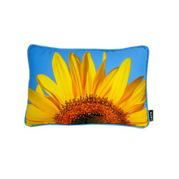 Lava - Sunflower Sky 18 x 14 Pillow (Indoor/Outdoor) - 100% polyester cover and fill. Made in USA. Spot clean only. Safe for use indoors or out.